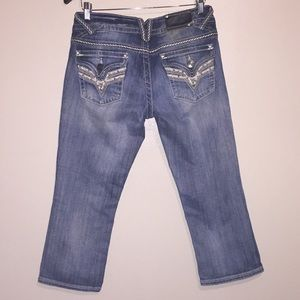 Vigoss The New York Flap Pocket Capri Jeans Sz 7